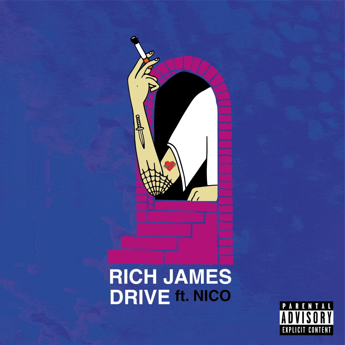 "RICH JAMES drops new single ""DRIVE"" in time for valentines day <3"